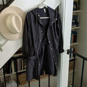 American Apparel Dark Grey Rain Jacket